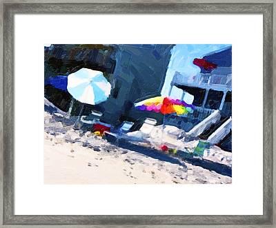 Beach Framed Print by Betsy Knapp