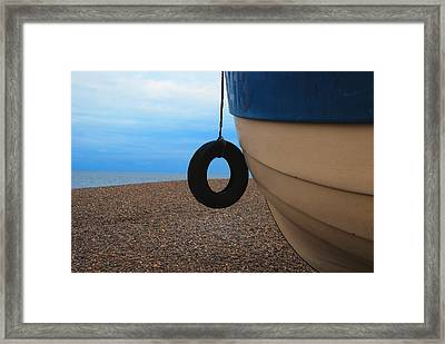 Beach Boat Framed Print by Duncan Nelson