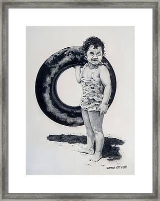 Beach Bound Framed Print by Carmen Del Valle