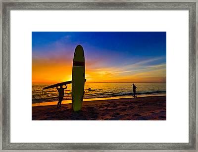 Beach Boys Framed Print by Debra and Dave Vanderlaan