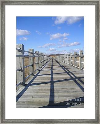 Beach Bridge Framed Print