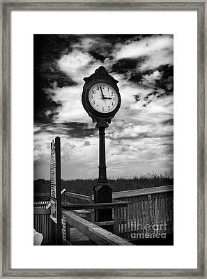 Beach Clock Framed Print by Thanh Tran