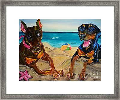 Beach Dawgs Framed Print