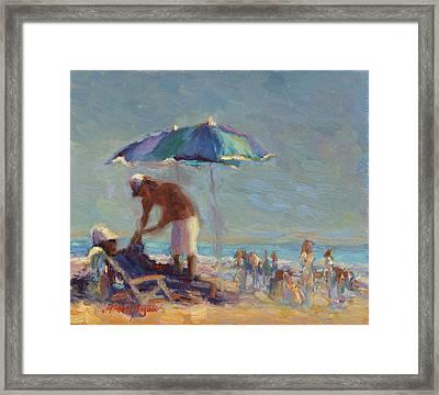 Beach Day Framed Print by Michael Besoli