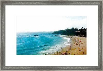 Beach Day Framed Print by Paula Greenlee