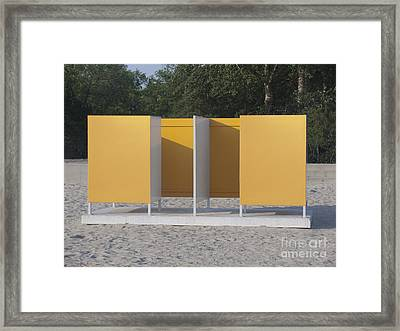 Beach Dressing Rooms Framed Print by Jaak Nilson