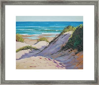 Beach Dunes Framed Print by Graham Gercken
