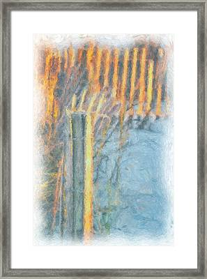 Framed Print featuring the photograph Beach Fence by Lynne Jenkins