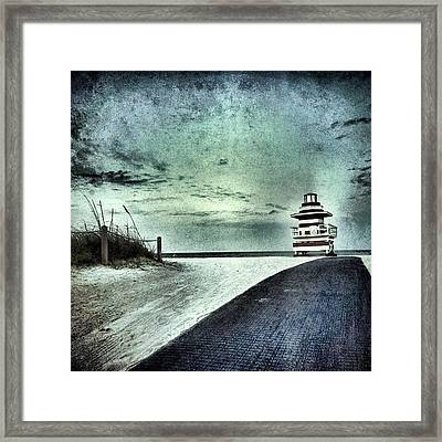 #beach #florida #miami #weather Framed Print