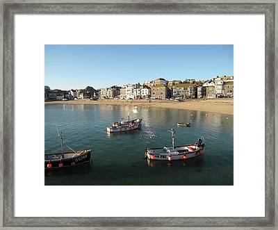 Beach Front, St Ives, Cornwall Framed Print by Thepurpledoor