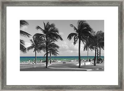 Framed Print featuring the photograph Beach Fun by Raymond Earley