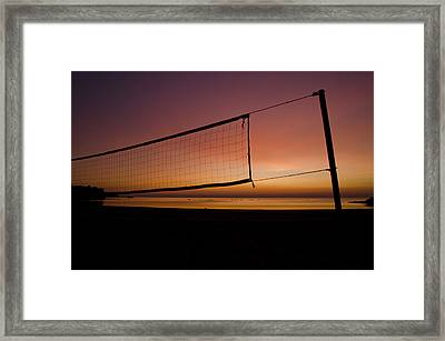 Framed Print featuring the photograph Beach Games by Jason Naudi Photography