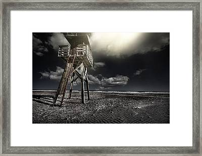 Beach House Framed Print by Gabriel Calahorra