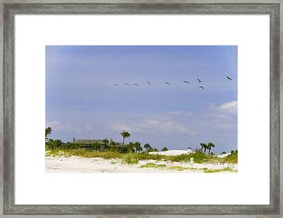 Beach House Framed Print by Georgia Fowler