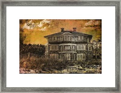 Beach House Postcard Framed Print