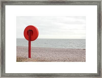 Beach In Budleigh Salterton Framed Print by Thenakedsnail