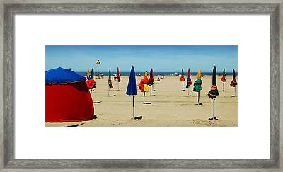 Beach In Deauville Framed Print by RicardMN Photography