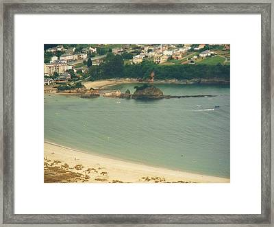 Beach In Galicia Framed Print by Jenny Senra Pampin