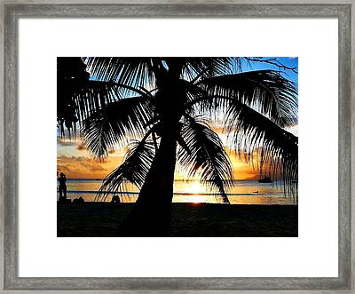 Beach Framed Print by Jenny Senra Pampin