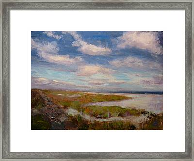 Framed Print featuring the painting Beach by Joe Bergholm