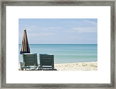 Beach Life Framed Print by Georgia Fowler