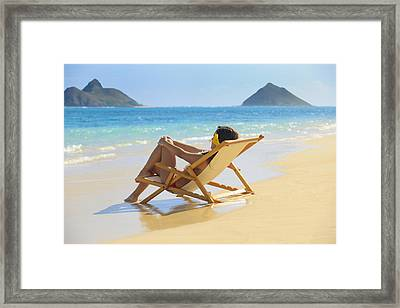 Beach Lounger II Framed Print by Tomas del Amo