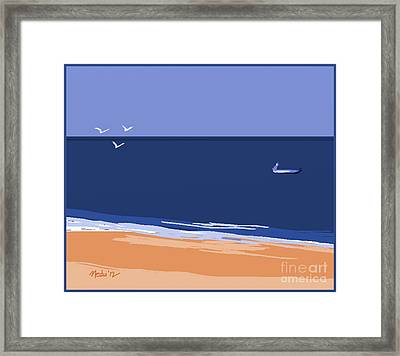 Beach Framed Print by Nedunseralathan R