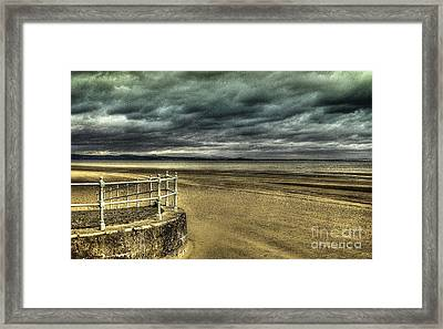 Beach Of Leight Edinburgh Framed Print by Elena Mussi