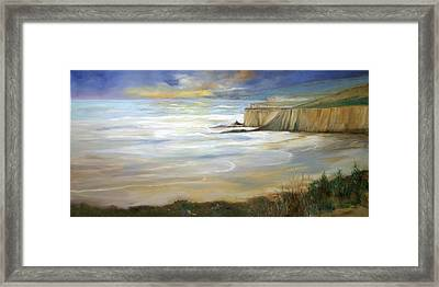 Beach On Highway One Framed Print by Max Mckenzie