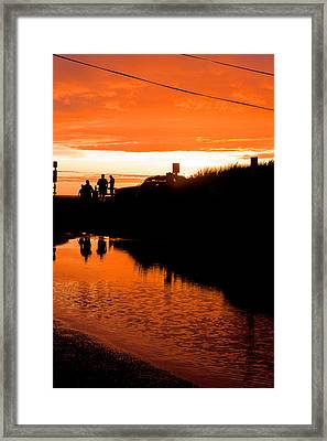 Framed Print featuring the photograph Beach Party by Michael Friedman