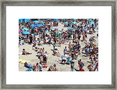 Beach People Framed Print by RJ Aguilar