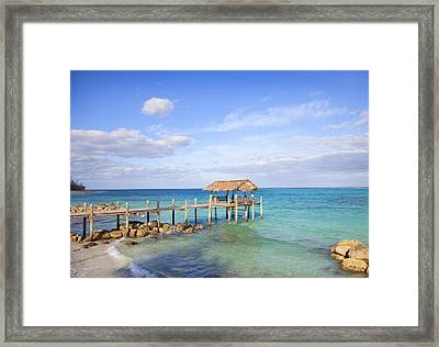 Beach Pier Near Sea Framed Print