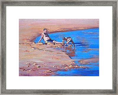 Beach Play Framed Print by Graham Gercken