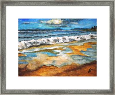 Beach Reflection Framed Print by Kim Selig