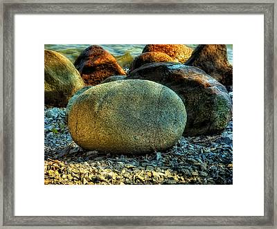 Beach Rocks Framed Print