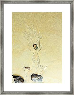 Beach Sand  5 Framed Print by Marcia L Jones