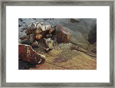 Beach Sand  Framed Print by Mary Gaines