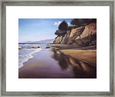 Beach Scene Framed Print by Mike Worthen