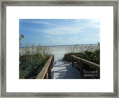 Beach Serenity Framed Print by Kaitlyn Roge