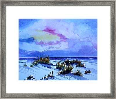 Beach Shadows II Framed Print