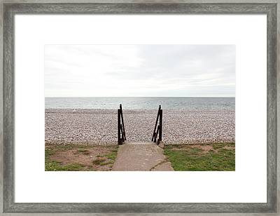 Beach Steps Framed Print by Thenakedsnail