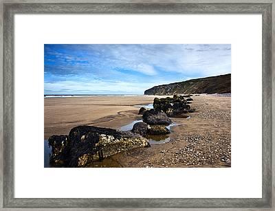 Beach Stones Framed Print by Svetlana Sewell