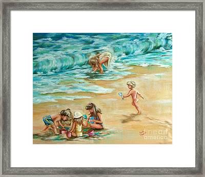 Beach Streaker Framed Print by Sandra Valentini