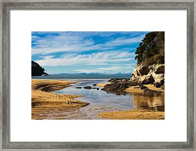 Beach Stream Framed Print by Graeme Knox