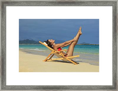 Beach Stretches Framed Print by Tomas del Amo