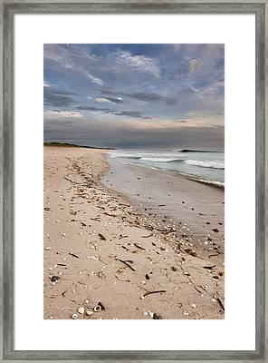 Beach Sunrise Framed Print by Cheryl Davis