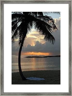 Beach Sunset Framed Print by Coby Cooper