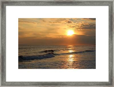 Beach Sunset Framed Print by Rita Tortorelli