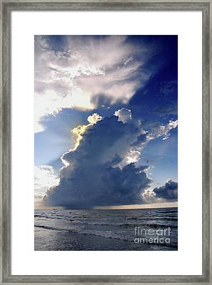 Beach Thunder 2 Framed Print