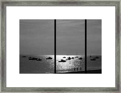 Beach Triptych  Framed Print by Kevin Bates